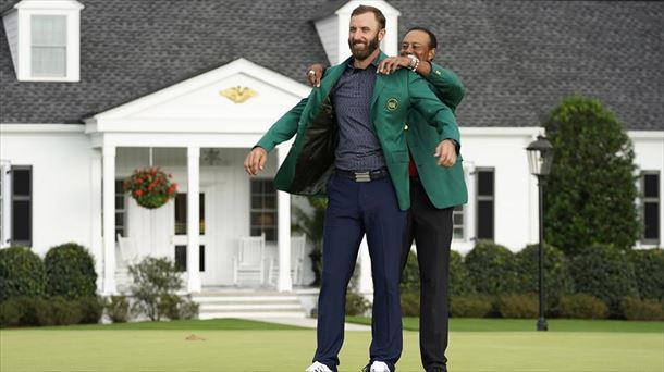 Paúl Miguel Ortega González - Dustin Johnson gana su primer Masters y su segundo 'major' - 20201116092035_dustin-johnson-tiger-wood_foto610x342.jpg